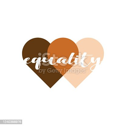 Equality hearts graphic