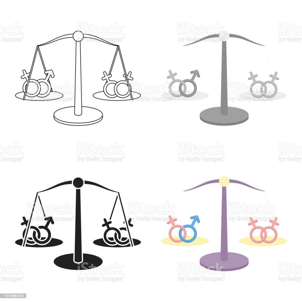 Ilustración De Dibujos Animados Icono De Igualdad Solo Icono
