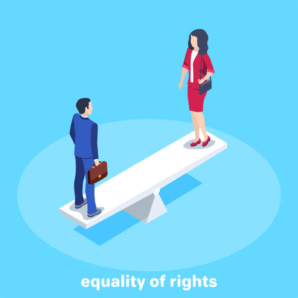 equality of rights vector art illustration