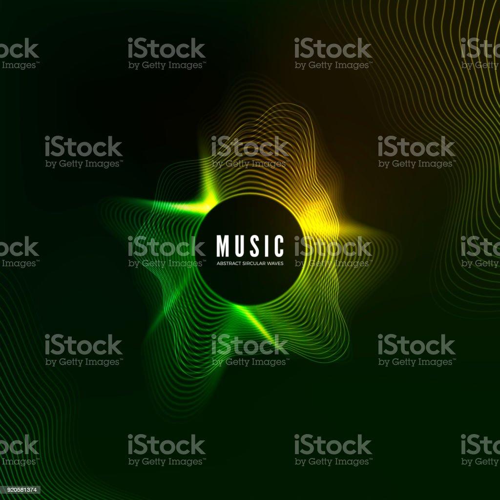 Equalizer concept. Design of music background. Audio wave vibrant effect. Digital color sound curve pattern. Vector illustration vector art illustration