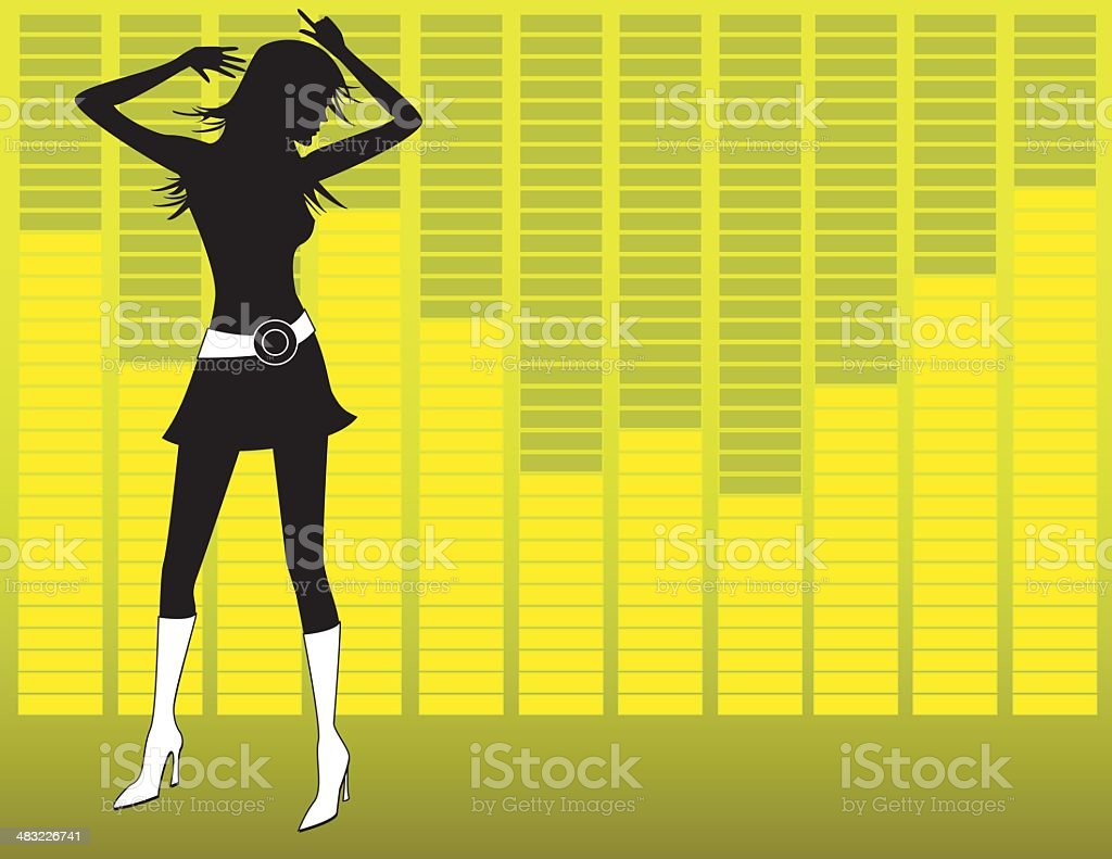 Equalizer Girl royalty-free stock vector art