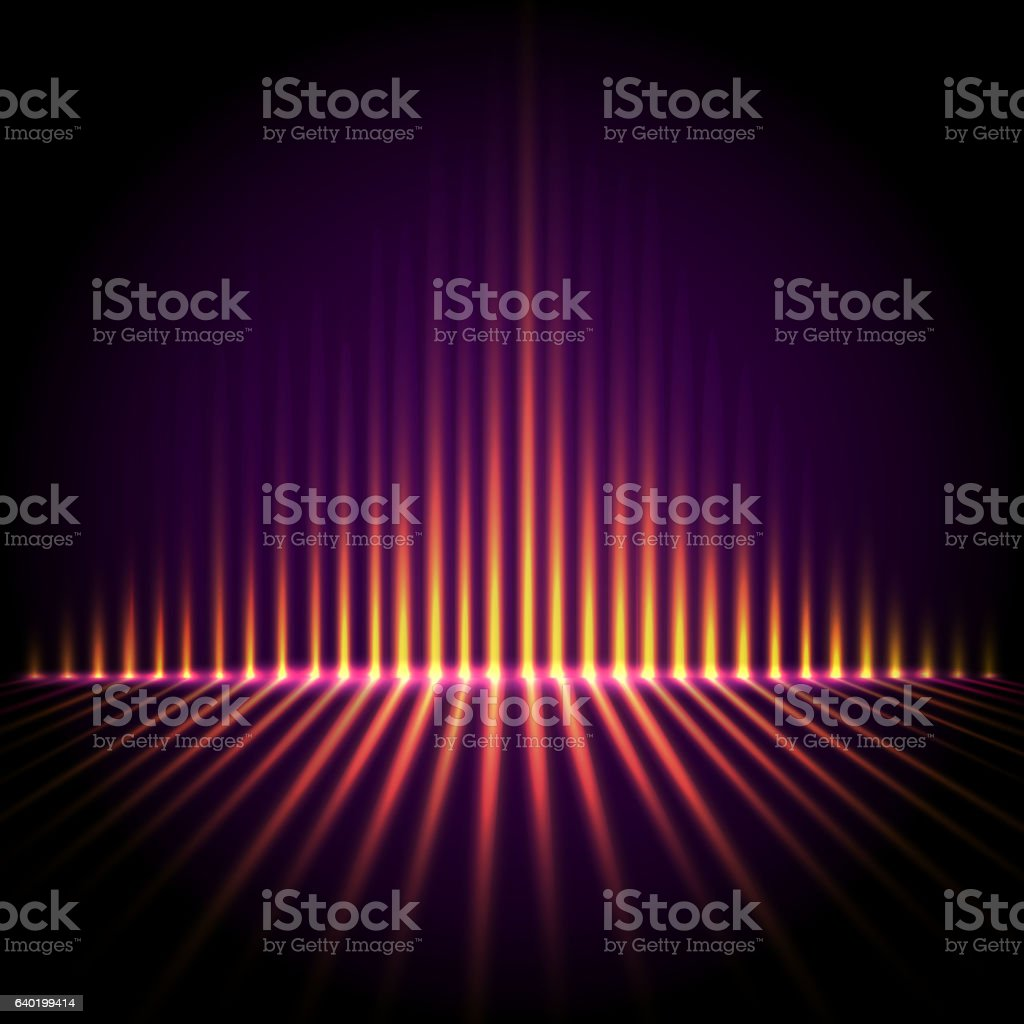 Equalizer on abstract technology background vector art illustration