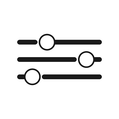 Equalizer or setting icon collection vector