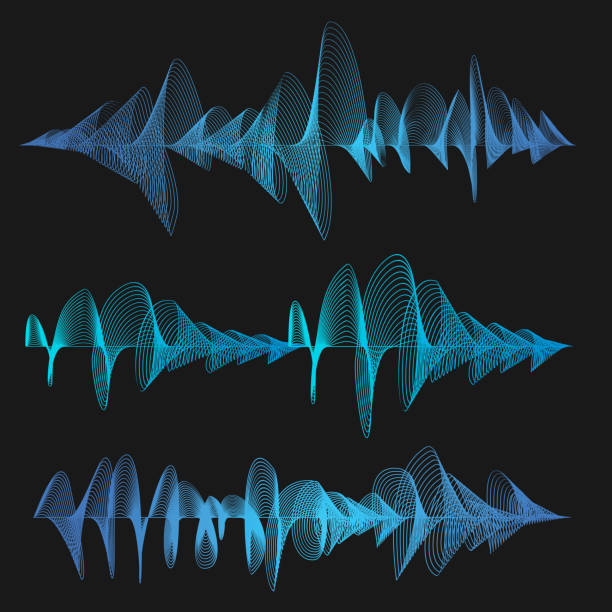 equalizer thin line set. vector - sound wave stock illustrations, clip art, cartoons, & icons