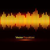 Equalizer. Vector illustration.