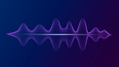 Equalizer with bright voice and sound imitation waves. Personal assistant and voice recognition. Vector EPS10.