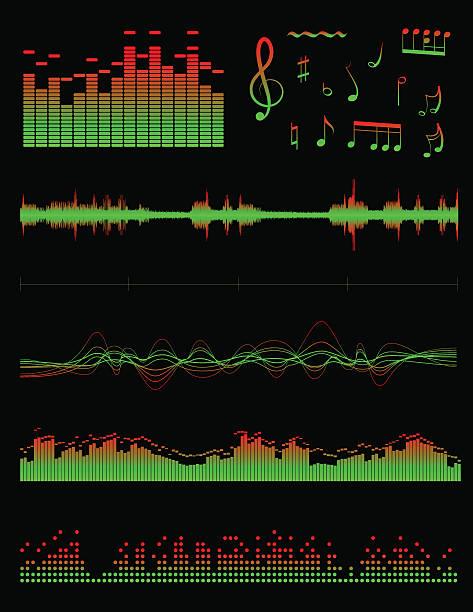 Equalizers i dźwięk – artystyczna grafika wektorowa