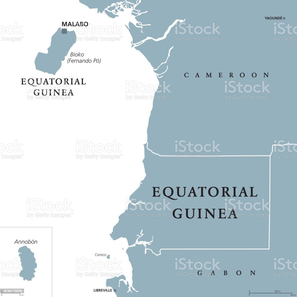 Equatorial Guinea Political Map Stock Vector Art & More Images of ...