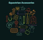 Equestrian accessories set