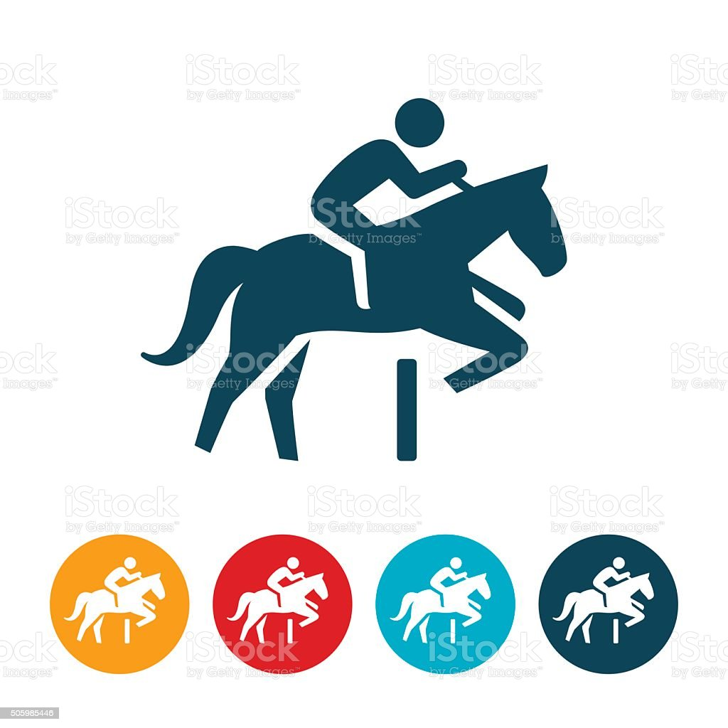 Equestrian Icon vector art illustration