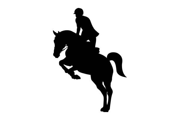 馬術スポーツ男ライダー - 乗馬点のイラスト素材/クリップアート素材/マンガ素材/アイコン素材