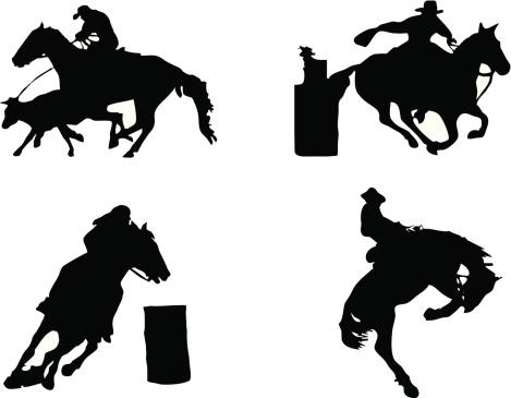 Equestrian sports: Rodeo