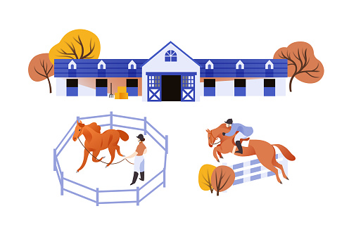 Equestrian stable scenes