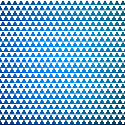 Equilateral triangles, every second white, equally sided, equally sized, shape pattern with color gradient. Gaps.