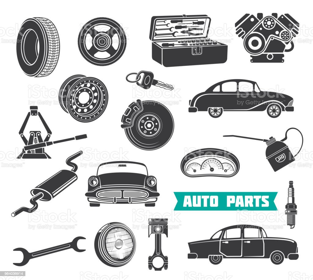 Equipment for auto repair - Royalty-free Archival stock vector