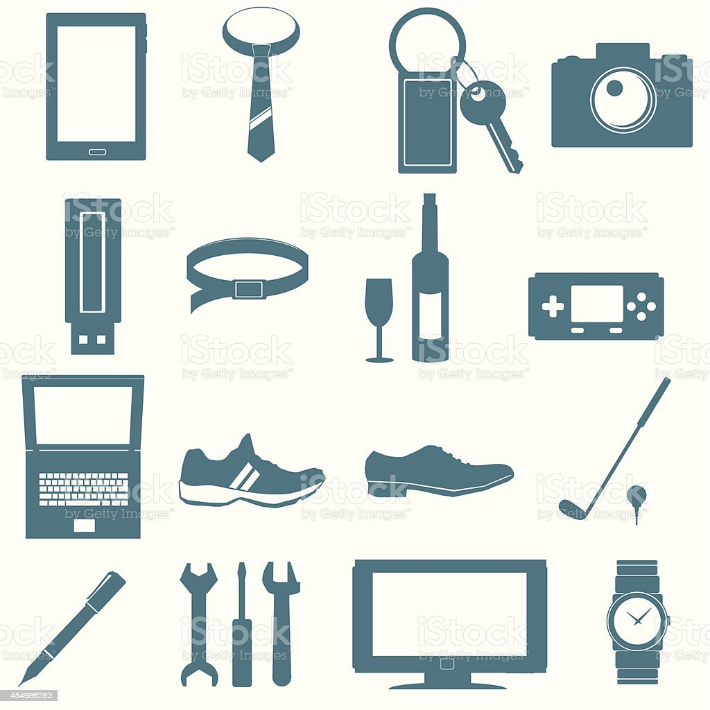 equipment for men royalty-free stock vector art