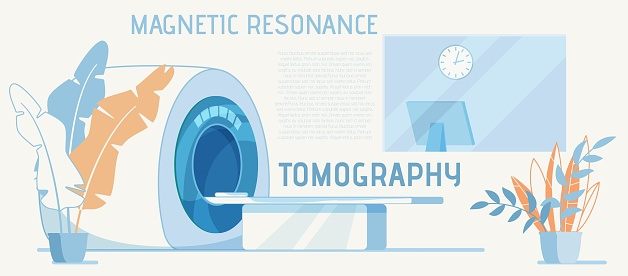 Equipment for MRI Diagnosis Cartoon Advertisement