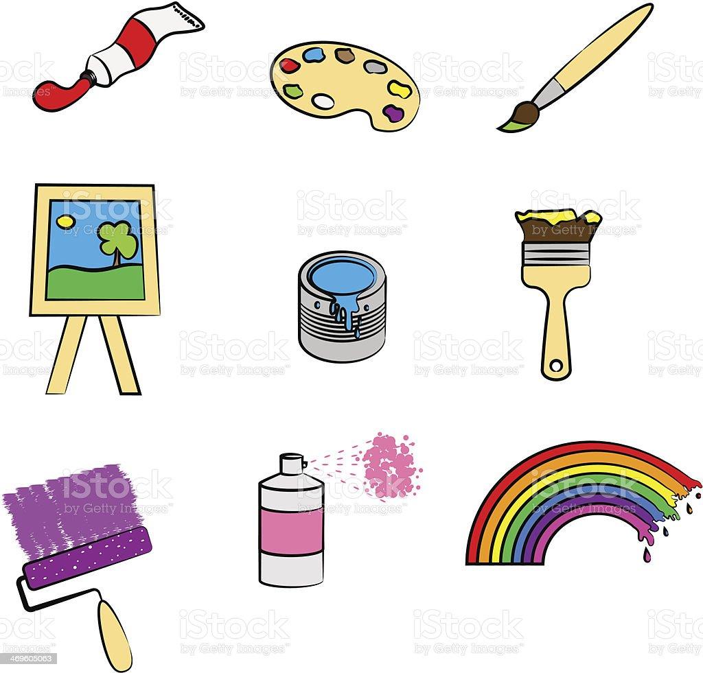 Equipment for painter royalty-free stock vector art
