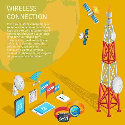 Equipment of Wireless Connection High Tower Beep