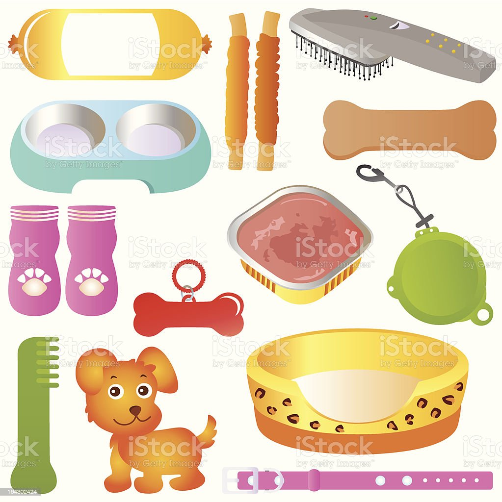 (Vector Icons) : Equipments for Pet  (Cats/Dogs) Set# 2 royalty-free stock vector art