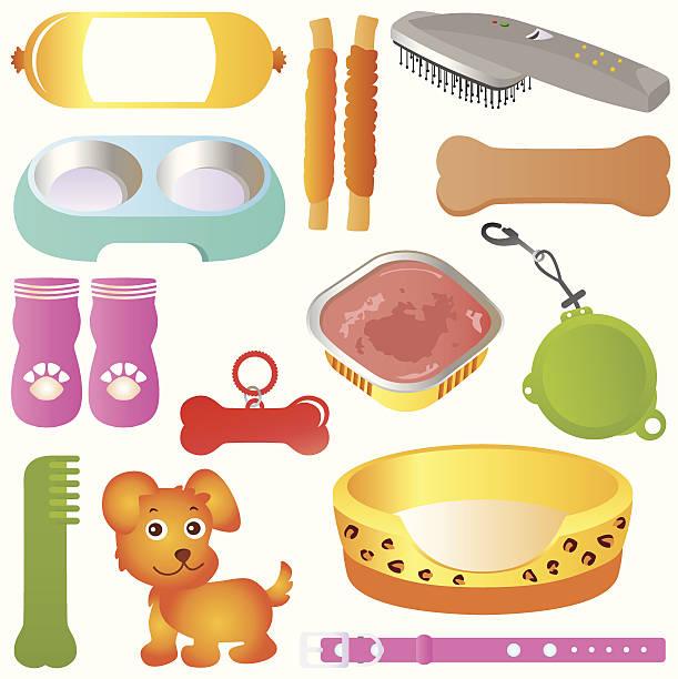 (vektor symbole): ausstattung für haustiere (katzen und hunde) set#2 - hundebetten stock-grafiken, -clipart, -cartoons und -symbole
