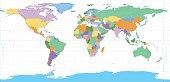 Equirectangular World Map