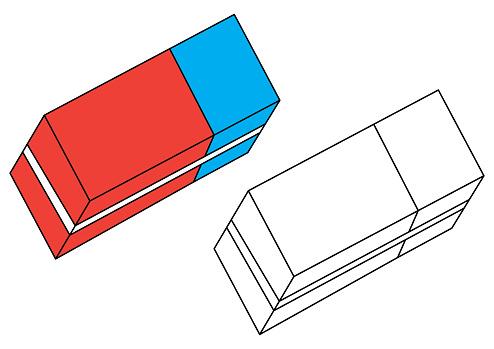 Vetores De Eraser Pagina Para Colorir Vector E Mais Imagens De