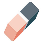 istock Eraser Icon on Transparent Background 1283762682