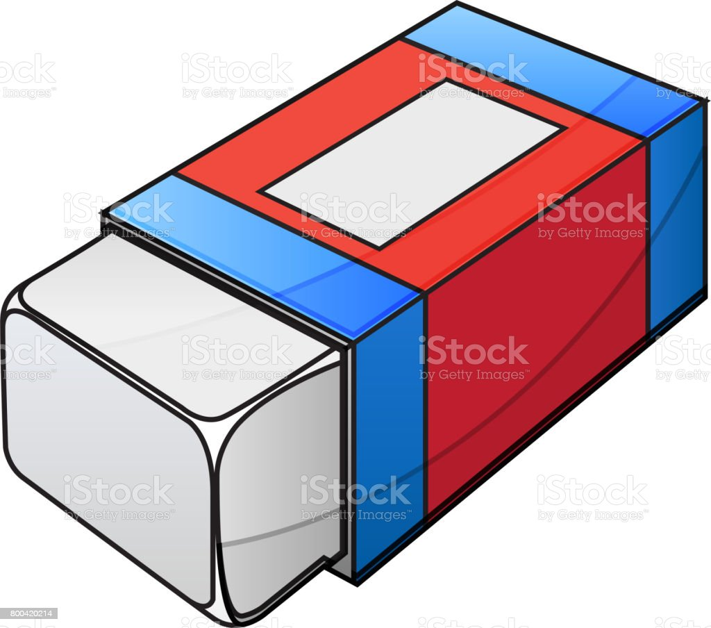 Eraser Illustration Stock Illustration - Download Image Now
