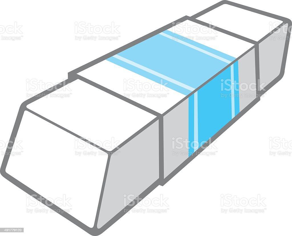 eraser vector illustration vector art illustration