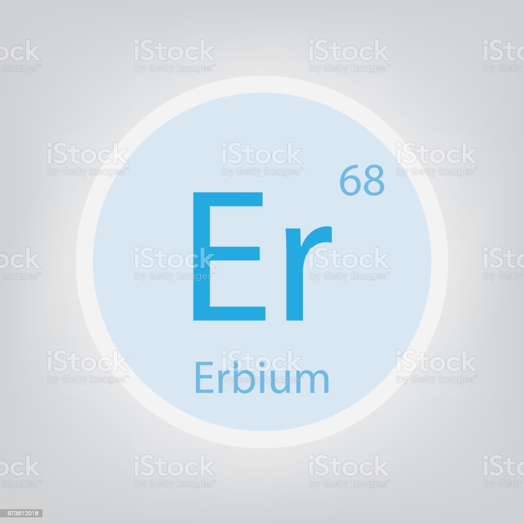 Erbium Er Chemical Element Icon Stock Vector Art More Images Of
