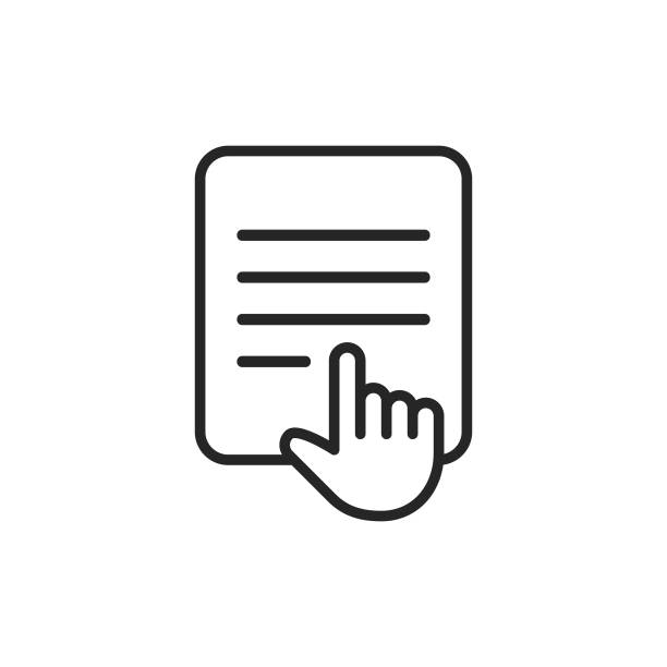 E-Reader Line Icon. Editable Stroke. Pixel Perfect. For Mobile and Web. E-Reader Line Icon with Editable Stroke. e reader stock illustrations