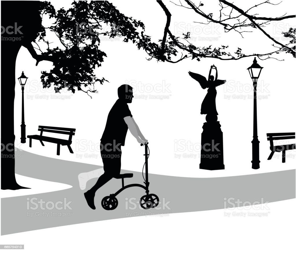 Ergonomic Design For Injury vector art illustration