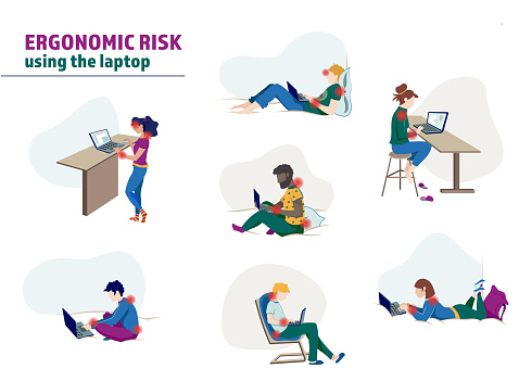 Ergonomic risk using laptop