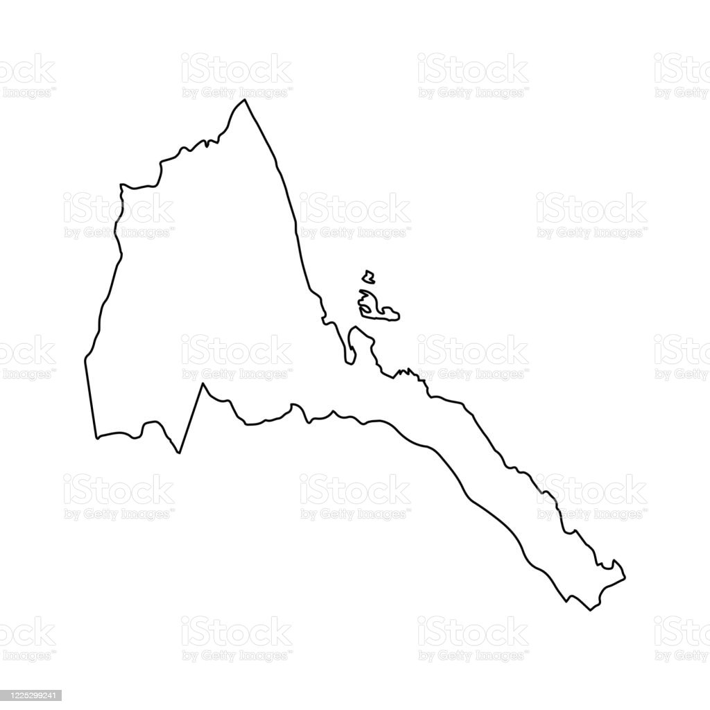 Picture of: Eritrea Map Line Outline Country Africa Map Illustration Vector African Isolated On White Background Stock Illustration Download Image Now Istock