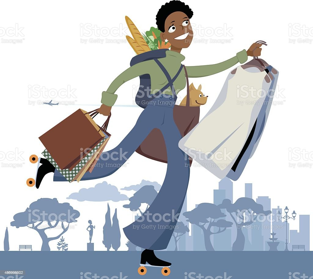 Errand service vector art illustration