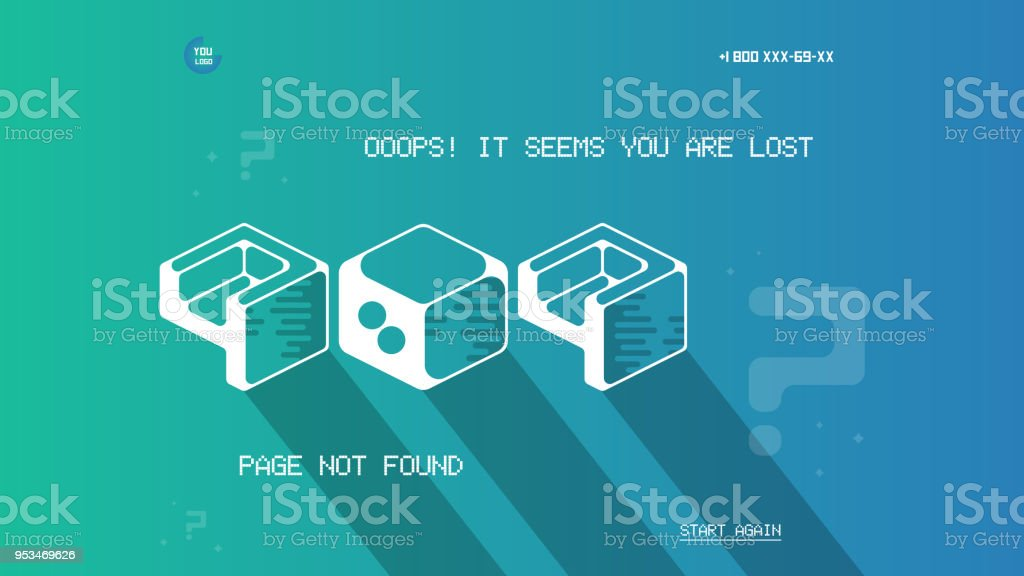 error 404 page template with flat space art flat design vector 404