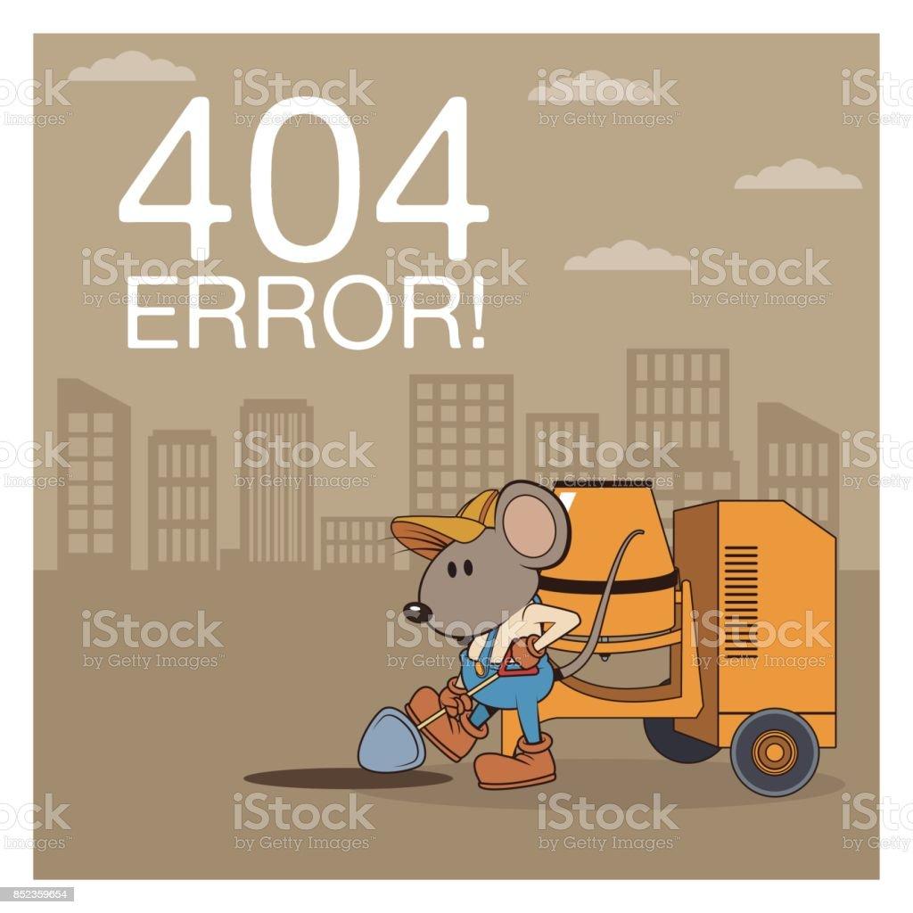 Ilustración De Error 404 Con Dibujos Animados De Ratones
