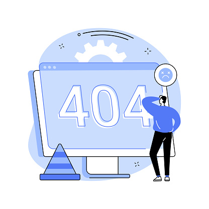 404 error abstract concept vector illustration.