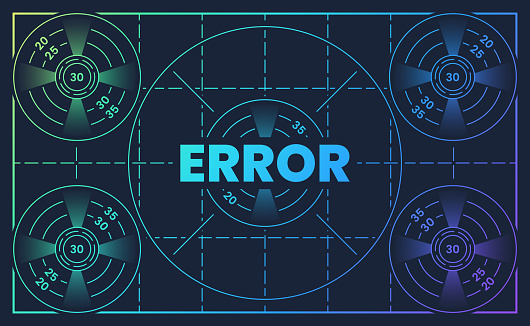 Error Broadcasting Test Pattern Screen