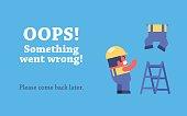 Error page design.