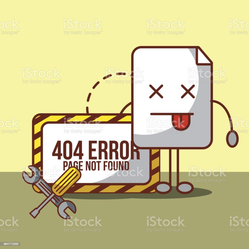 404 error page not found vector art illustration