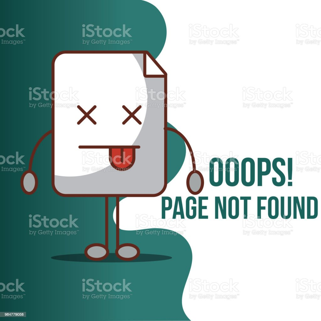 404 error page not found royalty-free 404 error page not found stock vector art & more images of alarm