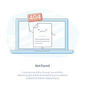 404 Error Page or File not found icon