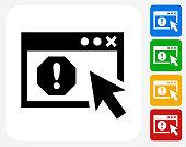 Error Screen Icon Flat Graphic Design