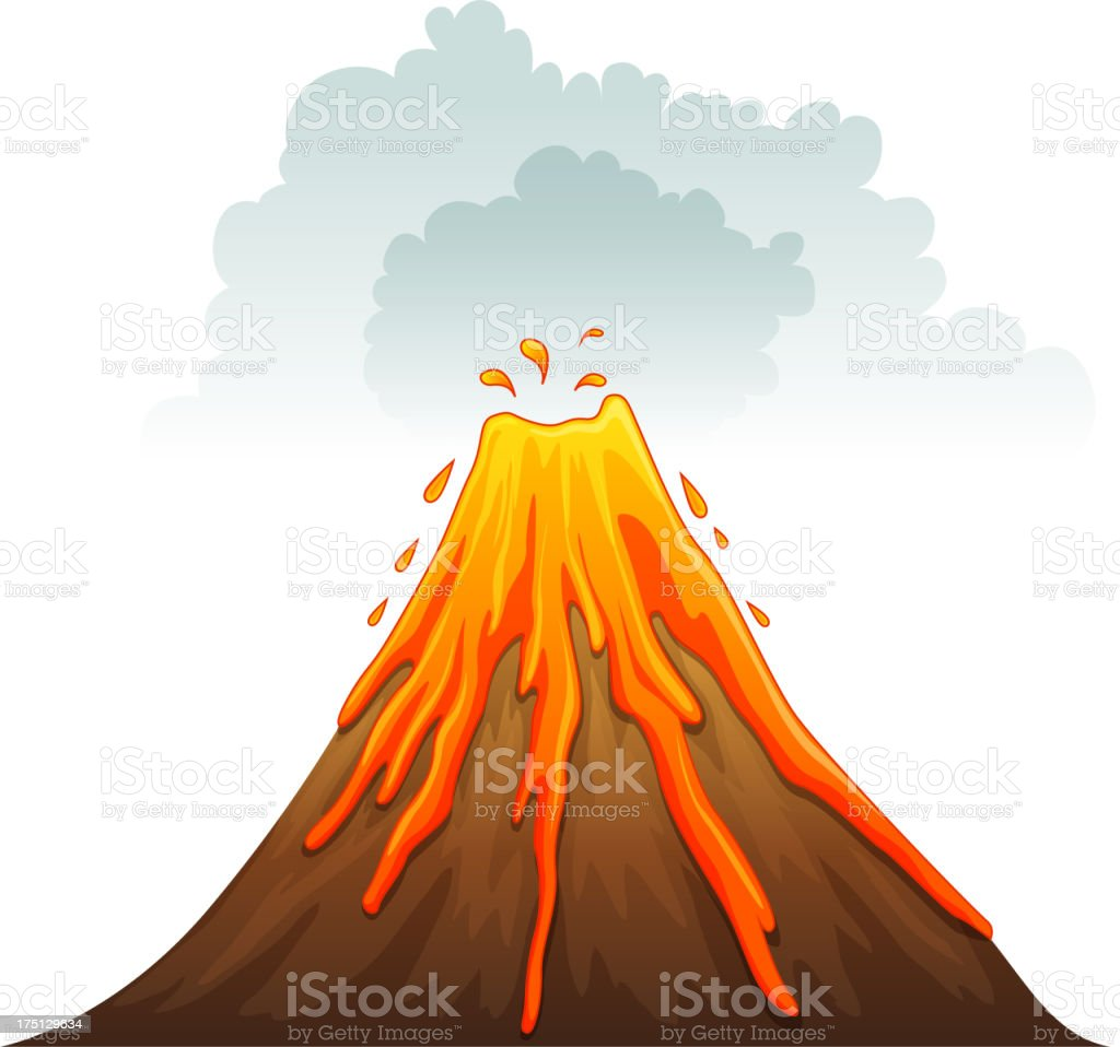 Image result for clipart volcano