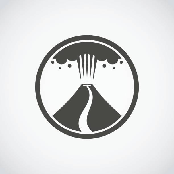 ausbruch des vulkan-symbol - vulkane stock-grafiken, -clipart, -cartoons und -symbole