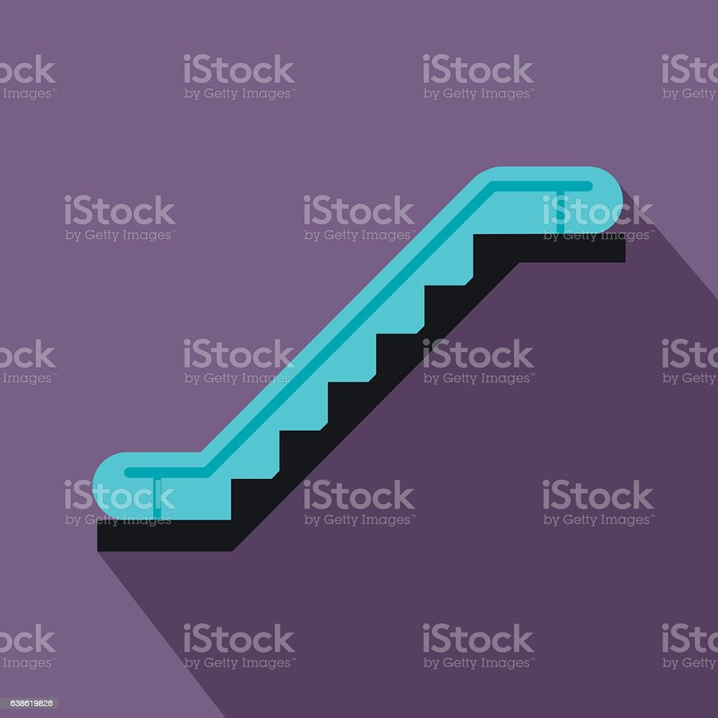 Escalator flat icon vector art illustration