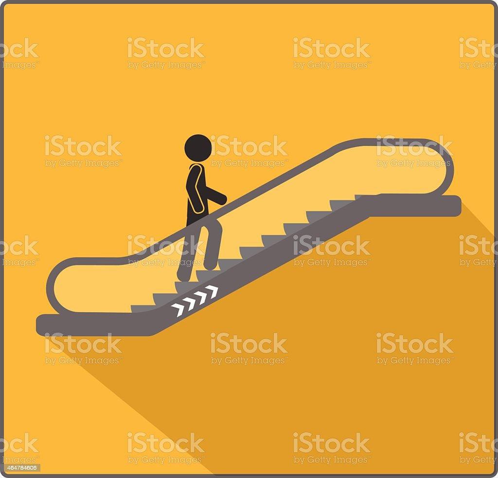 Escalator sign vector art illustration