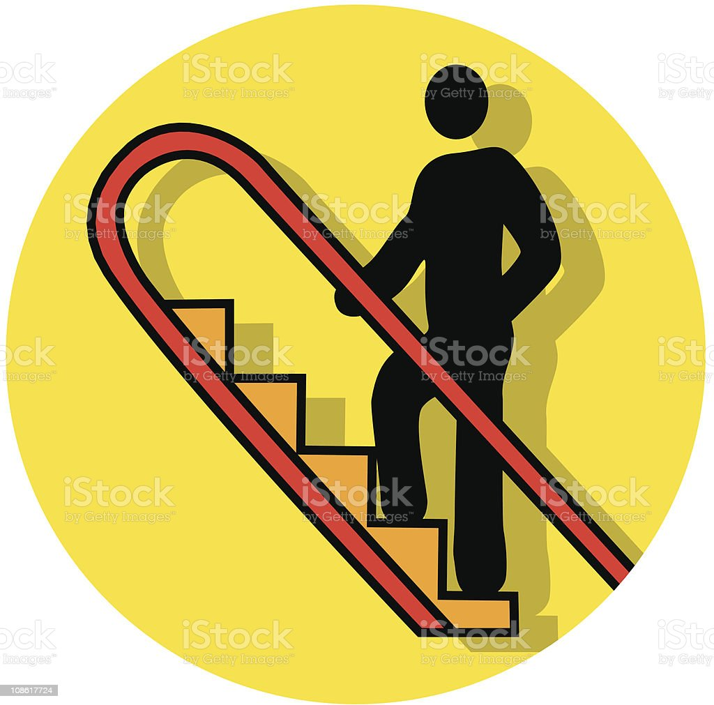 Rolltreppe Bis Symbol Vektor Illustration 108617724   iStock